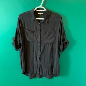 Urban Outfitters Black sheer Blouse